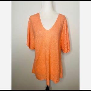 Eileen Fisher Oversized Peach T-shirt Linen